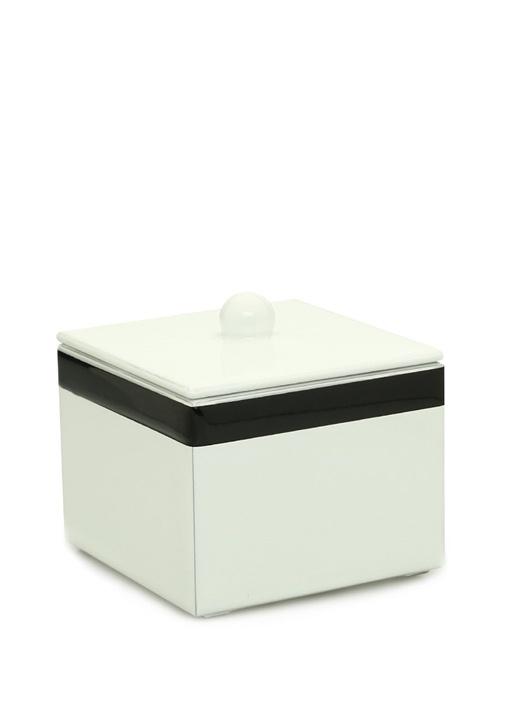 Regatta Short Beyaz Şerit Detaylı AhşapÇöp Sepeti