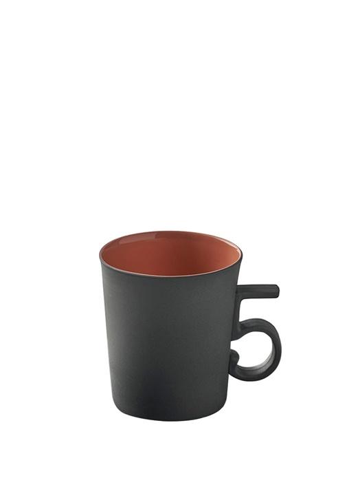 Siyah 4 Figürlü El Yapımı Porselen Kahve Fincanı