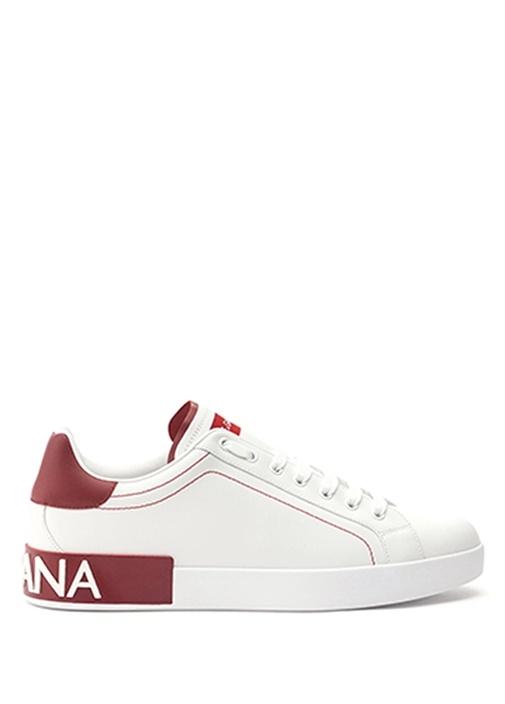 Portofino Beyaz Kırmızı Erkek Deri Sneaker