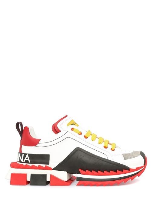 Super King Beyaz Taban Detaylı Erkek Sneaker