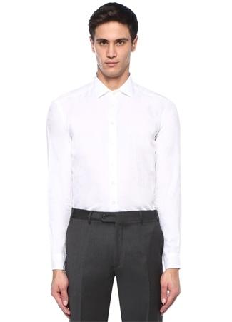 Etro Erkek Beyaz İngiliz Yaka Desenli Gömlek 43 I (IALY) Ürün Resmi
