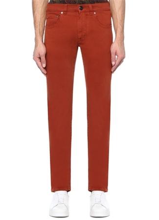 Turuncu Normal Bel Boru Paça Jean Pantolon