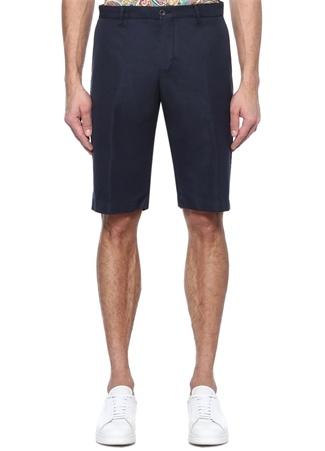 Slim Fit Lacivert Normal Bel Bermuda