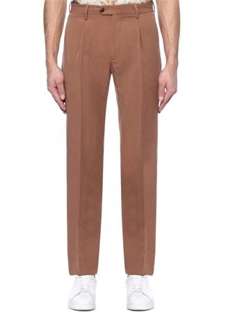 Slim Fit Kamel Normal Bel Pantolon