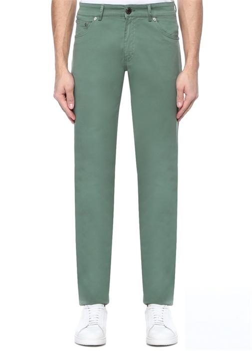 Slim Fit Yeşil Normal Bel Pantolon