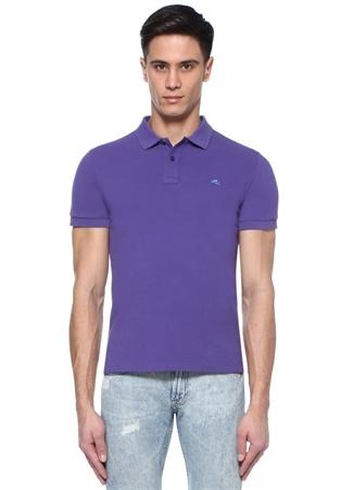 Etro Erkek Mor Polo Yaka Logolu -shirt M Ürün Resmi
