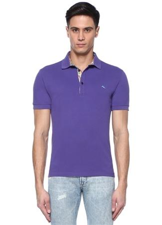 Etro Erkek Mor Polo Yaka Etnik Desen Detaylı -shirt XXXL Ürün Resmi