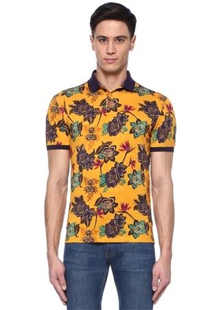Etro Erkek Sarı Polo Yaka Çiçek Baskılı -shirt XXL Ürün Resmi