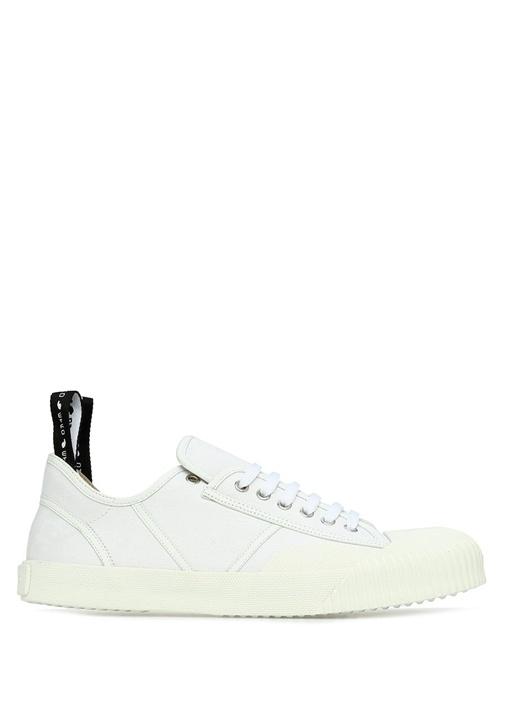 Beyaz Etnik Desenli Erkek Sneaker