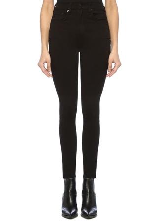Rag&Bone Denim Kadın Skinny Fit Siyah Yüksek Bel Jean Pantolon 24 US