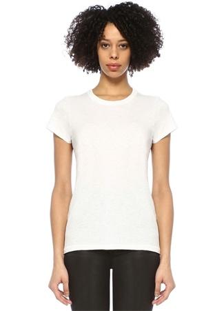 Rag&Bone Denim Kadın Beyaz Bisiklet Yaka Basic T-shirt M EU