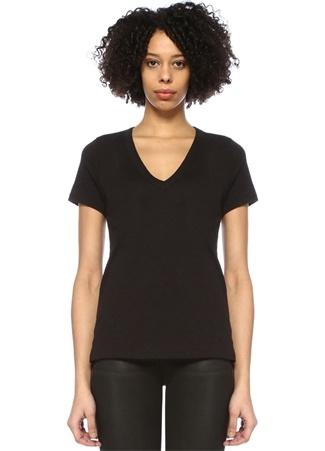 Rag&Bone Denim Kadın Vee Siyah V Yaka Basic T-shirt S EU