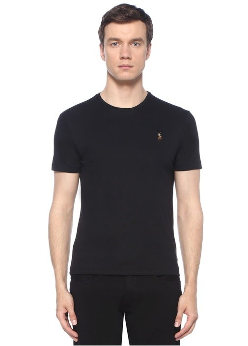 Custom Slim Fit Siyah T-shirt