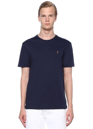 Polo Ralph Lauren Erkek Custom Slim Fit Lacivert Bisiklet Yaka T-shirt EU male