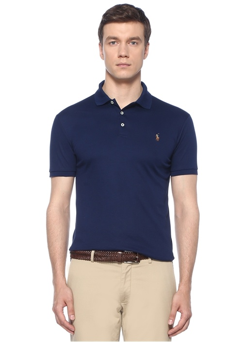 Slim Fit Lacivert Polo Yaka T-shirt