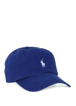 Polo Ralph Lauren Erkek Lacivert Logo Nakışlı Şapka Mavi EU male Standart