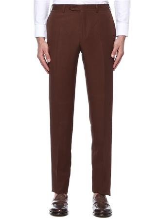 Kahverengi Keten Pantolon