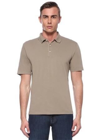 Bej Polo Yaka Pike Dokulu T-shirt