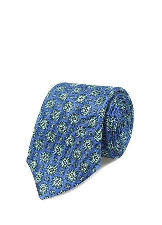 Kiton Erkek Mavi Mikro Desenli İpek Kravat Ürün Resmi
