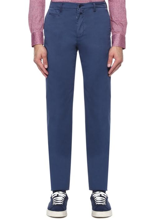 Lacivert Normal Bel Boru Paça Chino Pantolon