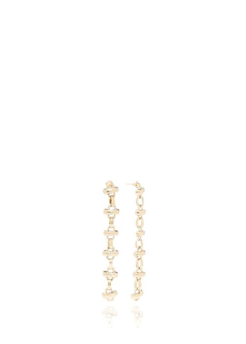 Gold Zincir Formlu Sallantılı Kadın Küpe