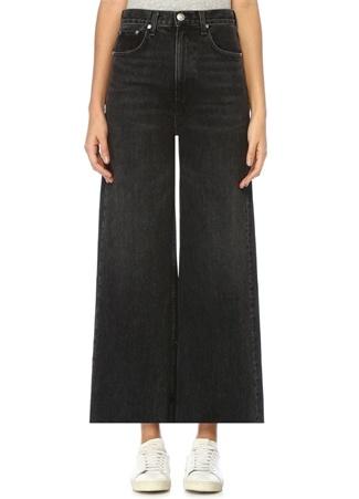 Haru Siyah Yüksek Bel Wide Leg Jean Pantolon