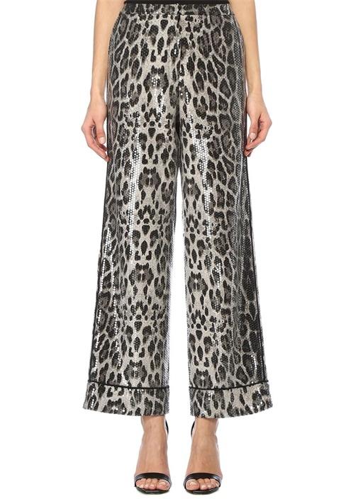 In The Mood For Love Loren Yüksek Bel Leopar Desenli İşlemeli Pantolon  1845.0 TL