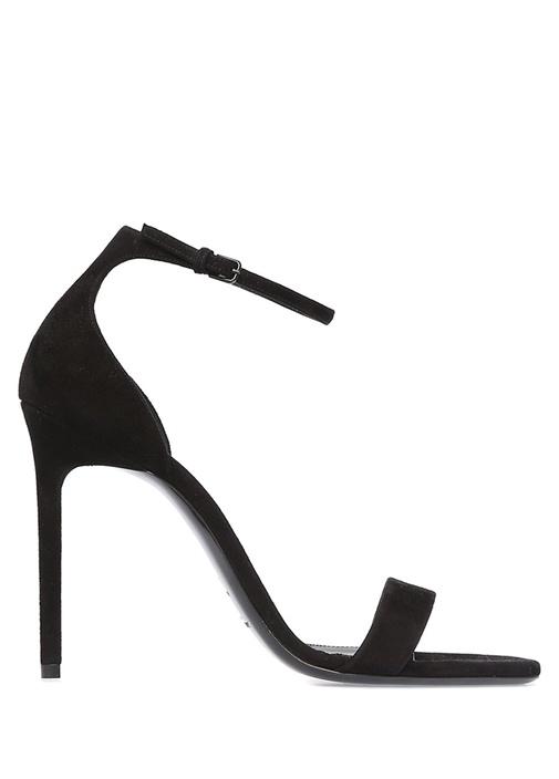 Amber Siyah Bant Detaylı Kadın Süet Sandalet