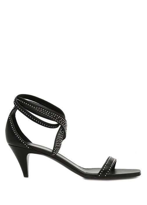Charlotte Siyah Kadın Deri Sandalet