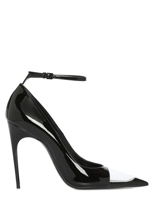 Edwige Siyah Burun Detaylı Kadın Deri Sandalet