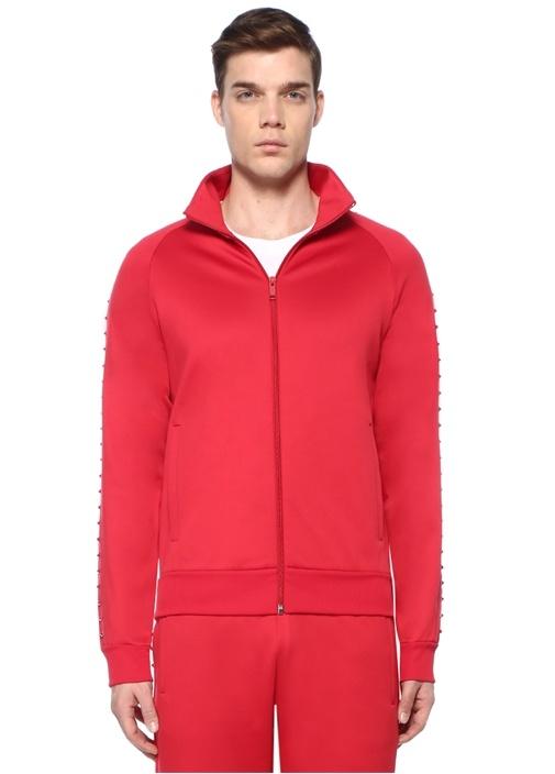 Rockstud 08 Kırmızı Dik Yaka Sweatshirt