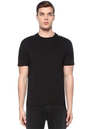 Rockstud 09 Siyah Bisiklet Yaka Basic T-shirt