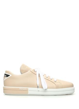 Prada Kadın Altın Rengi Deri Sneaker Bej 39.5 EU