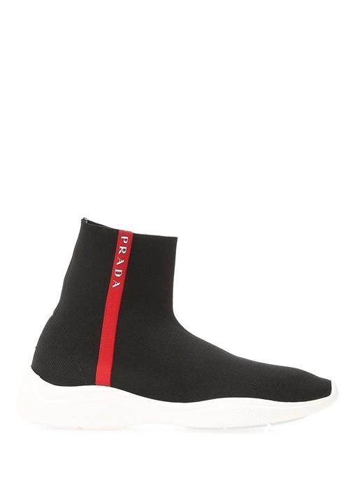 Siyah Bilekli Çorap Formlu Kadın Sneaker