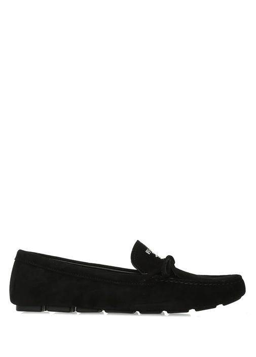 Prada Siyah Logolu Fiyonk Detaylı Kadın Süet Loafer – 4399.0 TL