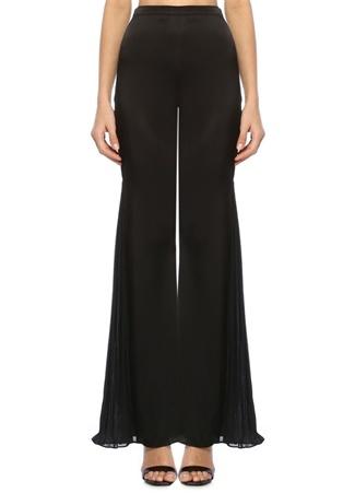 Amur Kadın Donna Siyah Yüksek Bel Pileli Bol İpek Pantolon 4 US