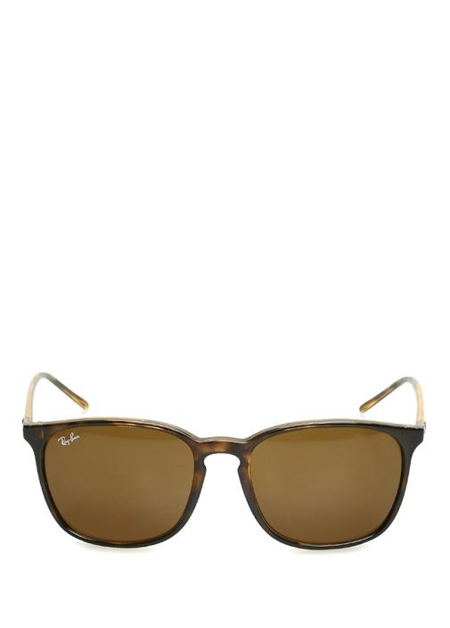Kahverengi Kare Formlu Erkek Güneş Gözlüğü