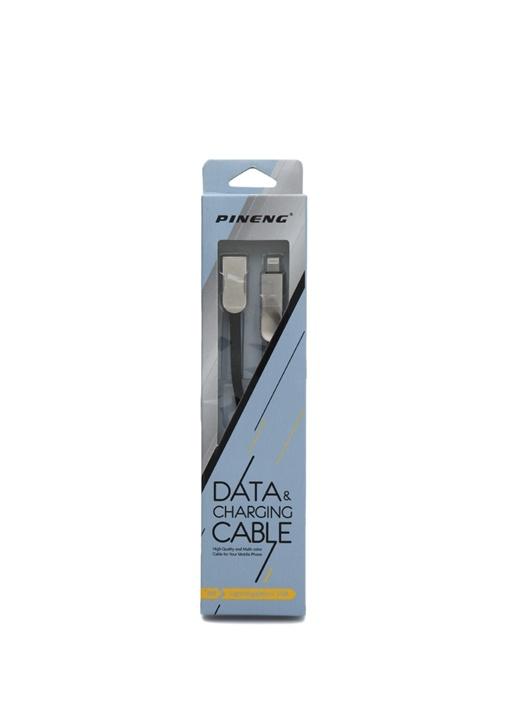 Lightning ve Micro USB Data Siyah Sarj Kablosu