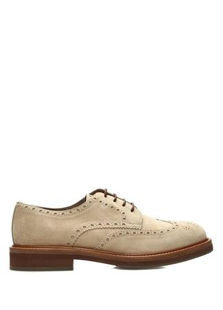 Bej Delik Detaylı Erkek Süet Ayakkabı