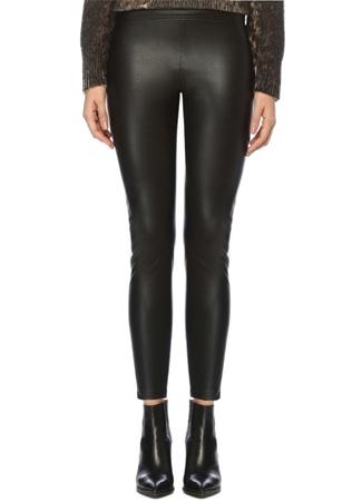 Allsaints Kadın Isla Siyah Suni Deri Streç Pantolon 6 US