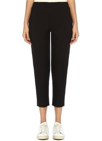 Aleida Siyah Yüksek Bel Pileli Crop Pantolon