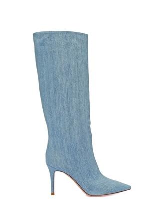 Kadın Suzan 85 Mavi Denim Görünümlü Çizme 38 EU
