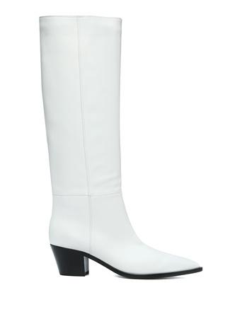 Gianvito Rossi Kadın Daenerys Beyaz Deri Çizme 36 EU