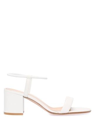 Kadın Nikki Beyaz Deri Sandalet 38.5 EU