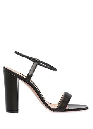 Kadın Nikki Siyah Deri Sandalet 36 EU