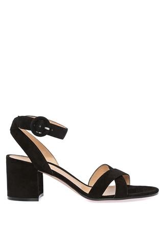 Kadın Siyah Çapraz Bantlı Süet Sandalet 39 EU