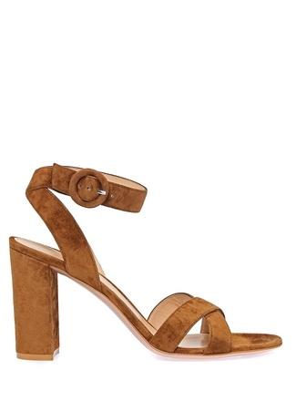 Kadın Frida Kahverengi Süet Sandalet 35.5 EU