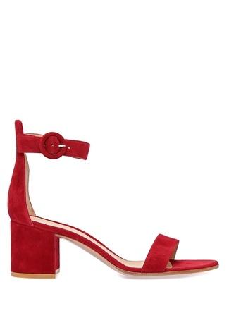 Kadın Versilla 60 Bordo Süet Sandalet 38.5 EU