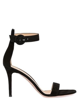 Kadın Portofino 85 Siyah Süet Sandalet 39.5 EU