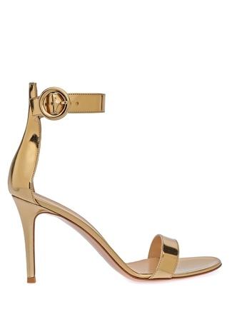 Kadın Portofino 85 Metalik Gold Deri Sandalet Altın Rengi 36 EU